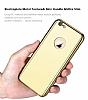 Eiroo Mirror Protect Fit iPhone SE / 5 / 5S Aynalı 360 Derece Koruma Gold Kılıf - Resim 5