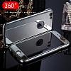 Eiroo Mirror Protect Fit iPhone SE / 5 / 5S Aynalı 360 Derece Koruma Jet Black Kılıf - Resim 1