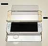 Eiroo Mirror Protect Fit iPhone SE / 5 / 5S Aynalı 360 Derece Koruma Gold Kılıf - Resim 4