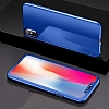 Eiroo Mirror Protect Fit iPhone X Aynalı 360 Derece Koruma Lacivert Kılıf - Resim 6
