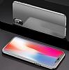 Eiroo Mirror Protect Fit iPhone X / XS Aynalı 360 Derece Koruma Silver Kılıf - Resim 5
