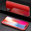 Eiroo Mirror Protect Fit iPhone X / XS Aynalı 360 Derece Koruma Kırmızı Kılıf - Resim 5