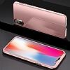 Eiroo Mirror Protect Fit iPhone X Aynalı 360 Derece Koruma Rose Gold Kılıf - Resim 4