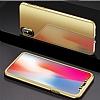Eiroo Mirror Protect Fit iPhone X / XS Aynalı 360 Derece Koruma Gold Kılıf - Resim 5