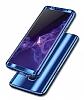 Eiroo Mirror Protect Fit Samsung Galaxy A7 2018 360 Derece Koruma Silver Kılıf - Resim 1