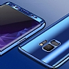 Eiroo Mirror Protect Fit Samsung Galaxy S9 Plus Aynalı 360 Derece Koruma Mor Kılıf - Resim 1
