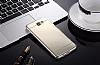 Eiroo Mirror Samsung Galaxy J7 Prime Silikon Kenarlı Aynalı Gold Rubber Kılıf - Resim 1