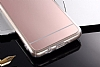Eiroo Mirror Samsung Galaxy J7 Prime Silikon Kenarlı Aynalı Gold Rubber Kılıf - Resim 4