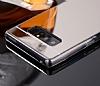 Eiroo Mirror Samsung Galaxy Note 8 Silikon Kenarlı Aynalı Siyah Rubber Kılıf - Resim 2