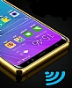 Eiroo Mirror Samsung Galaxy S8 Plus Metal Kenarlı Aynalı Gold Rubber Kılıf - Resim 1