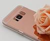 Eiroo Mirror Samsung Galaxy S8 Plus Silikon Kenarlı Aynalı Rose Gold Rubber Kılıf - Resim 2
