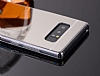 Eiroo Mirror Samsung Galaxy Note 8 Silikon Kenarlı Aynalı Rubber Kılıf - Resim 1