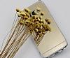 Eiroo Mirror Samsung Galaxy S8 Silikon Kenarlı Aynalı Gold Rubber Kılıf - Resim 4