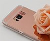 Eiroo Mirror Samsung Galaxy S8 Silikon Kenarlı Aynalı Rose Gold Rubber Kılıf - Resim 2
