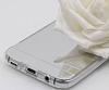 Eiroo Mirror Samsung Galaxy S8 Silikon Kenarlı Aynalı Silver Rubber Kılıf - Resim 2