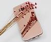 Eiroo Mirror Samsung Galaxy S8 Silikon Kenarlı Aynalı Rose Gold Rubber Kılıf - Resim 3