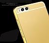 Eiroo Mirror Xiaomi Mi 6 Metal Kenarlı Aynalı Rose Gold Rubber Kılıf - Resim 2