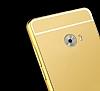 Eiroo Mirror Xiaomi Mi Note 2 Metal Kenarlı Aynalı Rose Gold Rubber Kılıf - Resim 1