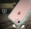 Eiroo Mixx Hybrid iPhone SE / 5 / 5S Standlı Gold Silikon Kılıf - Resim 4
