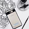Eiroo Mixx Hybrid Samsung Galaxy J7 Prime Siyah Kenarlı Standlı Silikon Kılıf - Resim 1