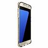 Eiroo Mixx Hybrid Samsung Galaxy S7 Edge Dark Silver Kenarlı Standlı Silikon Kılıf - Resim 2