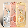 Eiroo Necklace iPhone 6 Plus / 6S Plus Metal Rose Gold K�l�f - Resim: 4