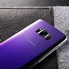 Eiroo Pente Samsung Galaxy S8 Mor Rubber Kılıf - Resim 2