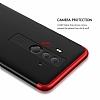 Eiroo Protect Fit Huawei Mate 10 Pro 360 Derece Koruma Rubber Siyah-Kırmızı Kılıf - Resim 4