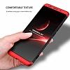 Eiroo Protect Fit Huawei Mate 10 Pro 360 Derece Koruma Rubber Siyah-Kırmızı Kılıf - Resim 6
