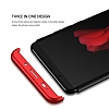 Eiroo Protect Fit Huawei Mate 10 Pro 360 Derece Koruma Rubber Siyah-Kırmızı Kılıf - Resim 3