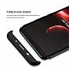 Eiroo Protect Fit Huawei Mate 10 Pro 360 Derece Koruma Siyah Rubber Kılıf - Resim 3