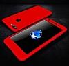 Eiroo Protect Fit Huawei P Smart 360 Derece Koruma Kırmızı Rubber Kılıf - Resim 3
