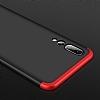 Eiroo Protect Fit Huawei P20 Pro 360 Derece Koruma Lacivert Rubber Kılıf - Resim 2