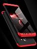 Eiroo Protect Fit Samsung Galaxy A6 2018 360 Derece Koruma Kırmızı Rubber Kılıf - Resim 1