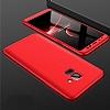 Eiroo Protect Fit Samsung Galaxy A6 2018 360 Derece Koruma Kırmızı Rubber Kılıf - Resim 4