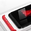 Eiroo Protect Fit Samsung Galaxy A6 2018 360 Derece Koruma Siyah-Kırmızı Rubber Kılıf - Resim 3