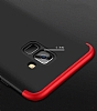 Eiroo Protect Fit Samsung Galaxy A6 2018 360 Derece Koruma Kırmızı Rubber Kılıf - Resim 2