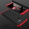 Eiroo Protect Fit Samsung Galaxy A6 2018 360 Derece Koruma Siyah-Kırmızı Rubber Kılıf - Resim 1