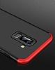 Eiroo Protect Fit Samsung Galaxy A6 Plus 2018 360 Derece Koruma Siyah Rubber Kılıf - Resim 1