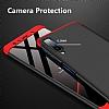Eiroo Protect Fit Samsung Galaxy A7 2018 360 Derece Koruma Gold Rubber Kılıf - Resim 2