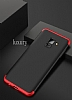 Eiroo Protect Fit Samsung Galaxy A8 2018 360 Derece Koruma Kırmızı-Siyah Rubber Kılıf - Resim 6