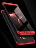 Eiroo Protect Fit Samsung Galaxy A8 Plus 2018 360 Derece Koruma Kırmızı-Siyah Rubber Kılıf - Resim 7