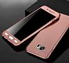 Eiroo Protect Fit Samsung Galaxy C7 Pro 360 Derece Koruma Silver Rubber Kılıf - Resim 1
