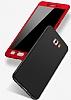 Eiroo Protect Fit Samsung Galaxy C7 Pro 360 Derece Koruma Gold Rubber Kılıf - Resim 3