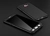Eiroo Protect Fit Samsung Galaxy C7 Pro 360 Derece Koruma Siyah Rubber Kılıf - Resim 1