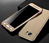 Eiroo Protect Fit Samsung Galaxy C9 Pro 360 Derece Koruma Gold Rubber Kılıf - Resim 3