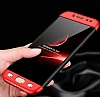 Eiroo Protect Fit Samsung Galaxy J5 Pro 2017 360 Derece Koruma Siyah-Kırmızı Rubber Kılıf - Resim 1