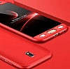 Eiroo Protect Fit Samsung Galaxy J5 Pro 2017 360 Derece Koruma Kırmızı Rubber Kılıf - Resim 2