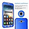 Eiroo Protect Fit Samsung Galaxy J7 / Galaxy J7 Core 360 Derece Koruma Kırmızı Rubber Kılıf - Resim 2