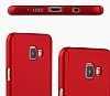 Eiroo Protect Fit Samsung Galaxy J7 Prime 360 Derece Koruma Kırmızı Rubber Kılıf - Resim 1